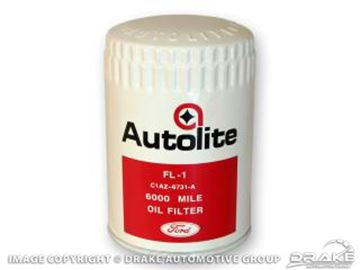 Picture of Concours Oil Filter (White/Red Autolite with Ford script) : C1AZ-6731-FL1F
