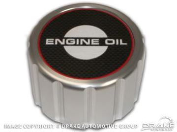 Picture of 1965-68 Mustang Oil Cap (Billet, Push-on) : B-6766-A