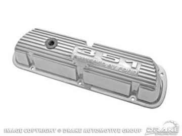 Picture of 351 Polished Aluminum Valve Covers (Pair) : 6A582-351P