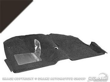 Picture of 1964 Convertible Molded Carpet Kit (Black) : CAR64-CV-BK