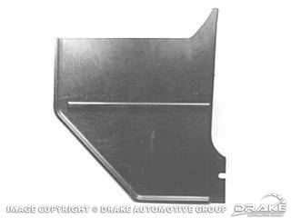 Picture of 64-66 Convertible Kick Panels (Black) : C5ZZ-76023445BK
