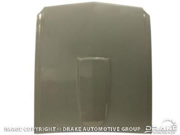 Picture of 1964-66 Mustang Fiberglass Hood with Scoop : S1MS-16612-A