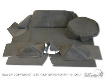 Picture of 1970 Mustang Trunk Carpet Kit, Fastback (Black) : TMK-FB-70-BK