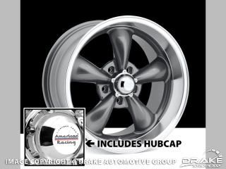 Picture of 1964-73 Mustang Classic Wheel (Anthracite, 15 x 7 with 4' Backspace) : S1MS-1007-157