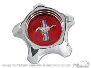 Picture of 1967 Styled Steel Hub Cap (Red) : C7ZZ-1130-R