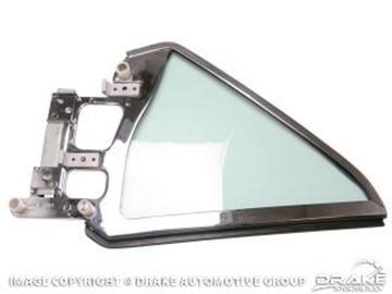 Picture of 1964-66 Mustang Coupe Quarter Glass Assembly (Right Hand, tinted) : C5ZZ-6529958-TK