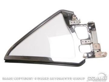 Picture of 1964-66 Mustang Coupe Quarter Glass Assembly (Left Hand, clear) : C5ZZ-6529959-CK