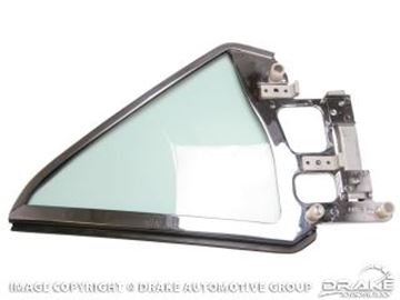 Picture of 1964-66 Mustang Coupe Quarter Glass Assembly (Left Hand, tinted) : C5ZZ-6529959-TK