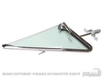 Picture of 1967 Mustang Vent Window Frame & Door Glass Run Assembly-RH Tinted : C7ZZ-6521608-TK