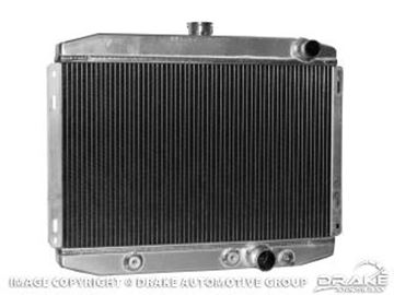 """Picture of 1967-69 Mustang 24"""" High Performance Aluminum Radiator (Small Block) with Transmission Cooler : 338-2AL"""