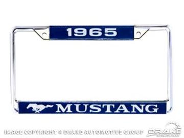 Picture of 1965 Mustang Year Dated License Plate Frame : ACC-LPF-65