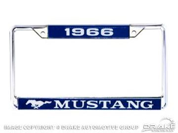 Picture of 1966 Mustang Year Dated License Plate Frame : ACC-LPF-66