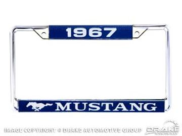 Picture of 1967 Mustang Year Dated License Plate Frame : ACC-LPF-67