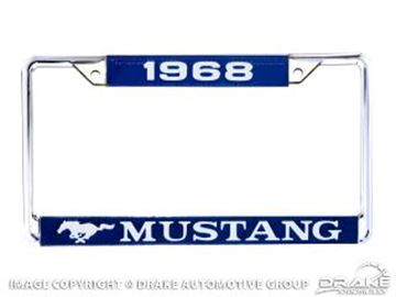 Picture of 1968 Mustang Year Dated License Plate Frame : ACC-LPF-68