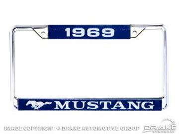 Picture of 1969 Mustang Year Dated License Plate Frame : ACC-LPF-69