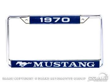 Picture of 1970 Mustang Year Dated License Plate Frame : ACC-LPF-70