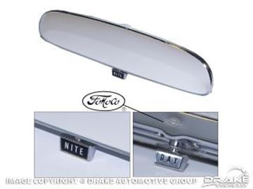 Picture of 1965-66 Mustang Day/Night Mirror with FoMoCo Logo : C6ZZ-17700-FMC