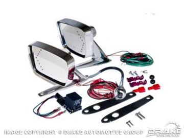 Picture of 1967-68 Mustang Deluxe Remote Mirror Kits with LED indicators : C7AZ-17696-LED