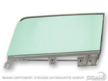 Picture of 1967-68 Mustang Fastback Tinted Left Hand Door Glass and Assembly : C7ZZ-6321410-TL
