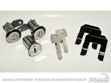 Picture of 1967-69 Mustang Ignition Lock Set with Pony Keys : C9AZ-6222050-B