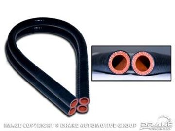 Picture of 1964-68 Mustang & 1966-77 Bronco Silicone Heater Hose (Black) : C5ZZ-18472-BLK