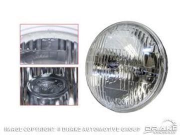 "Picture of 5 3/4"" High/Low Beam Round Halogen Sealed Beam Headlamp : B8AZ-13007-A"