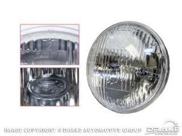 "Picture of 5 3/4"" Low Beam Round Halogen Sealed Beam Headlamp : B8AZ-13007-B"