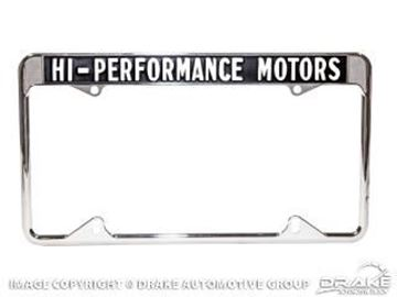 Picture of 1964-73 High Performance Motors License Plate Frame : ACC-LPF-HPM